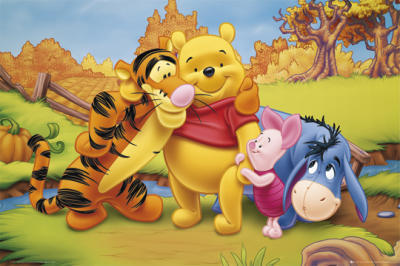 O Ursinho Puff wallpaper with animê entitled Winnie the Pooh and friends
