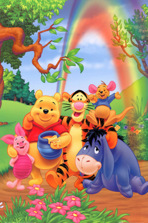 Winnie the Pooh wallpaper possibly containing anime called Winnie the Pooh and Friends