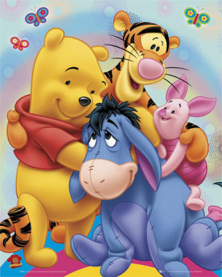 Winnie-the-Pooh karatasi la kupamba ukuta possibly containing anime called Winnie the Pooh and Marafiki