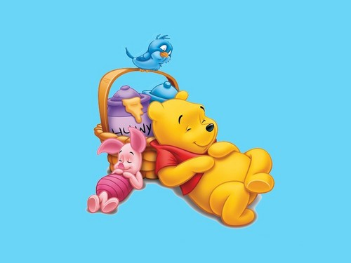 小熊维尼 壁纸 entitled Winnie the Pooh and Piglet 壁纸