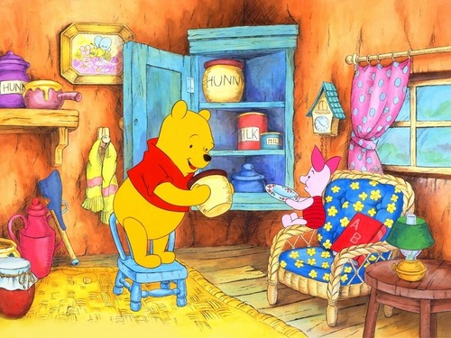 Winnie the Pooh wallpaper entitled Winnie the Pooh and Piglet Wallpaper