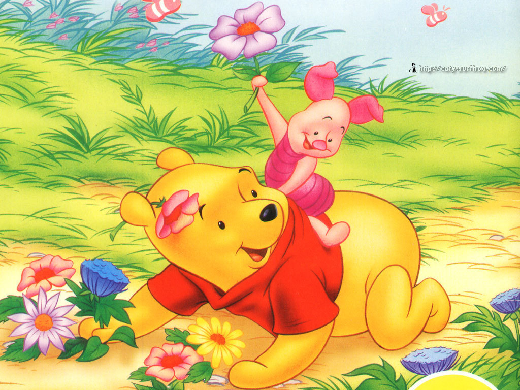 Winnie the Pooh and Piglet achtergrond