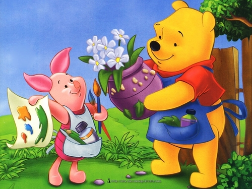 Winnie the Pooh wolpeyper containing anime called Winnie the Pooh and Piglet wolpeyper