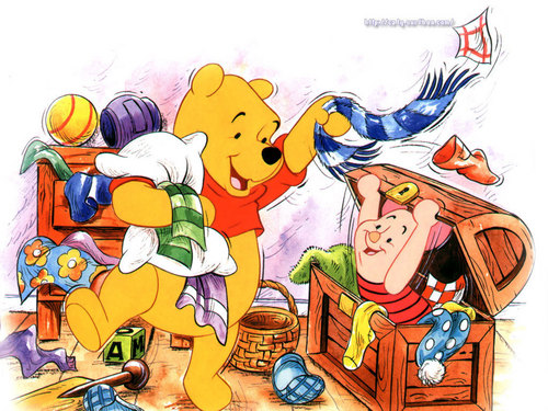 Pu der Bär Hintergrund containing Anime called Winnie the Pooh and Piglet Hintergrund