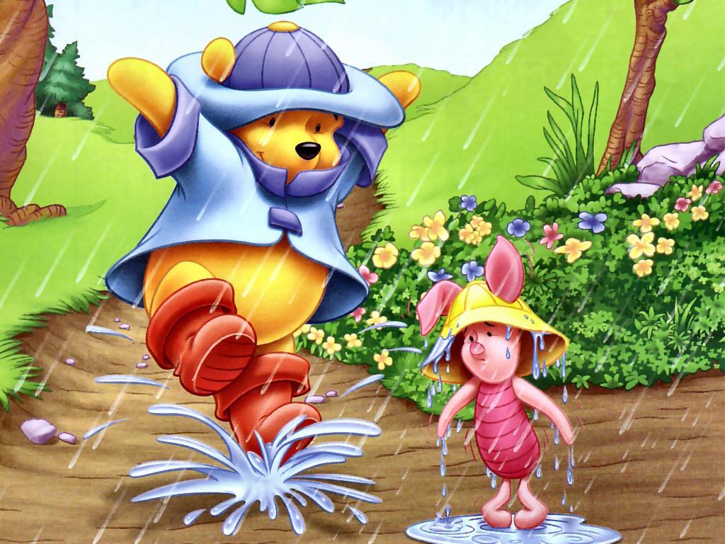 Winnie the Pooh and Piglet wolpeyper