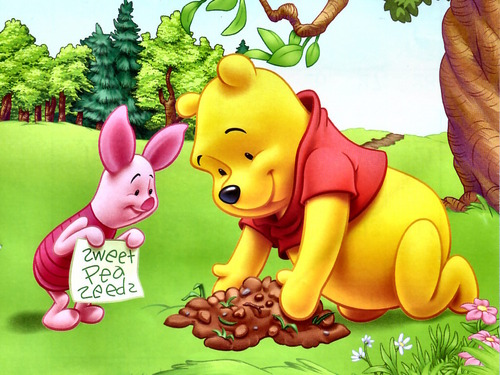 Winnie Pooh fondo de pantalla probably with anime entitled Winnie the Pooh and Piglet fondo de pantalla