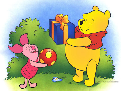 Winnie the Pooh پیپر وال with عملی حکمت called Winnie the Pooh and Piglet پیپر وال