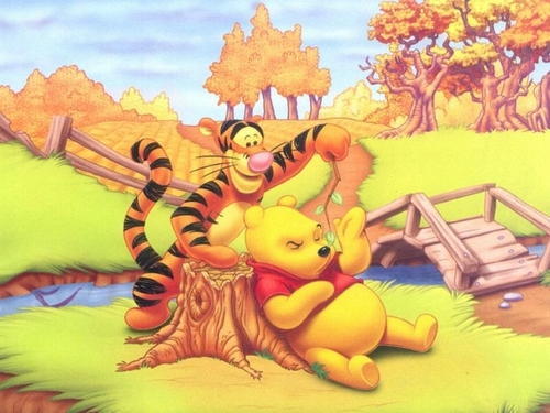Pu der Bär Hintergrund containing Anime titled Winnie the Pooh and Tigger Hintergrund