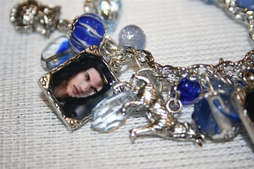 close up Jacob blue charm bracelet $20