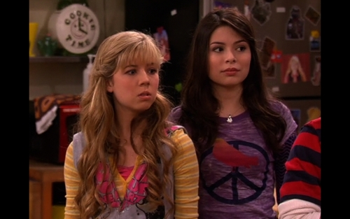 iCarly wallpaper probably with an outerwear, a box coat, and an overgarment titled iGive Away A Car