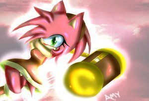 Sonic X wallpaper probably with a bouquet titled mad amy rose