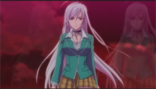 Rosario Vampire wallpaper probably containing anime called moka