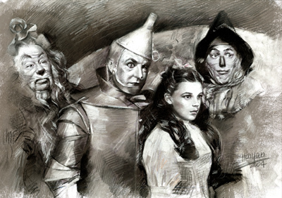 The Wizard of Oz wallpaper titled The Wizard Of Oz Portrait