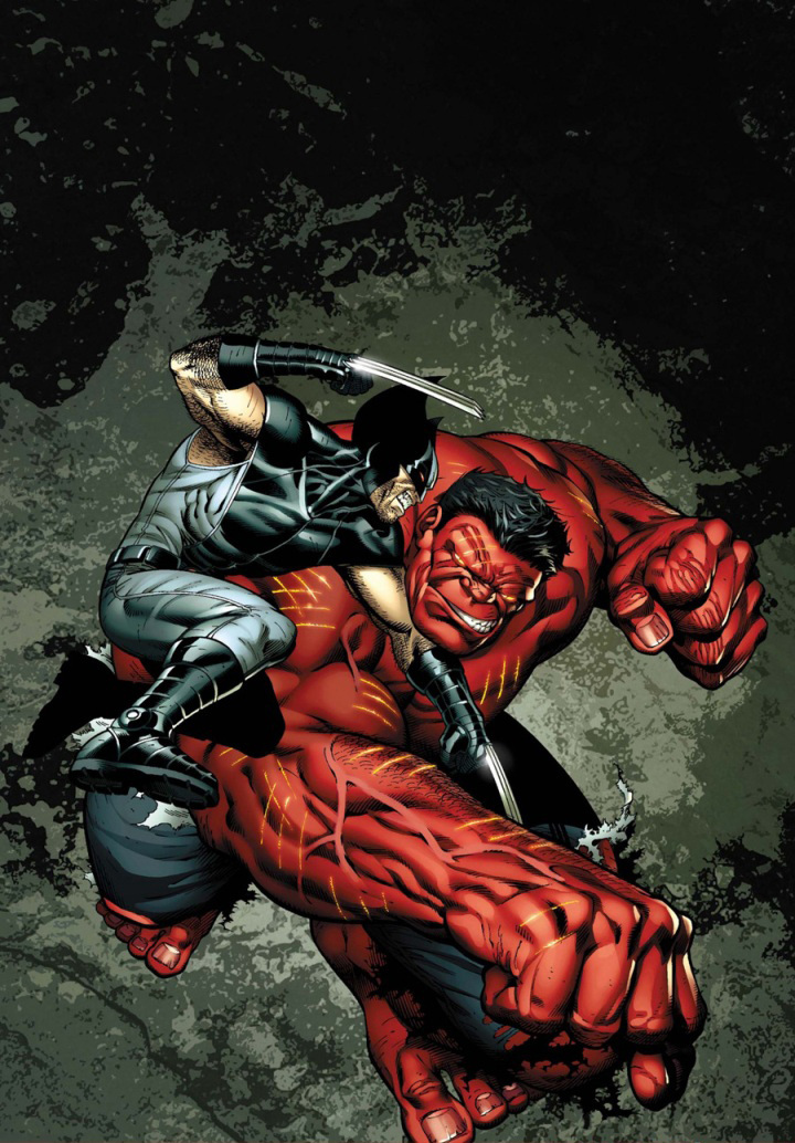Marvel Comics wolverine vs red hulk