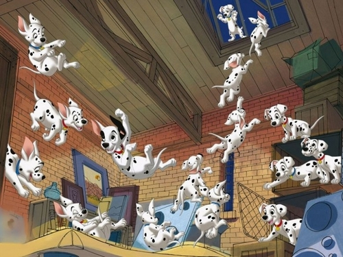 Classic Disney wallpaper titled 101 Dalmations Wallpaper