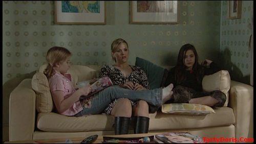Abi, Tanya and Lauren watching TV