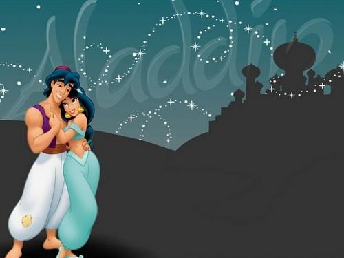 Aladdin và cây đèn thần and hoa nhài hình nền