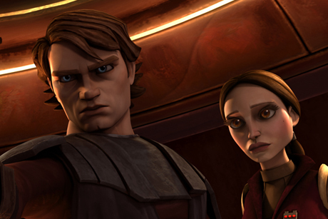 Anakin and Padme پیپر وال called Anakin & Padme - the clone wars