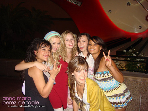 Anna and the rest of the Camp Rock Cast