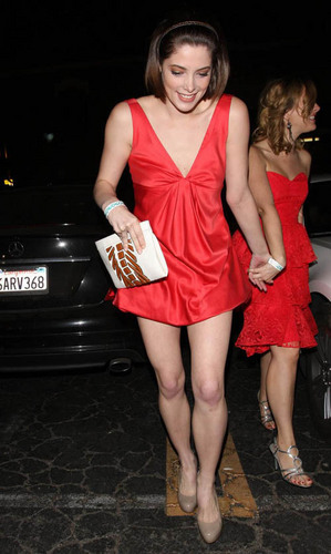Ashley Greene Out at Bardot