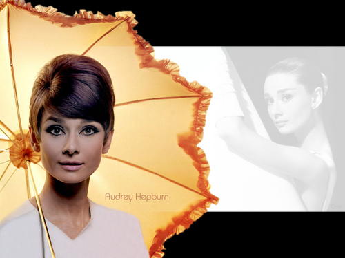 Audrey Hepburn kertas dinding