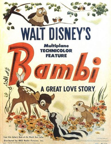 Bambi wallpaper probably containing anime titled Bambi Movie Poster