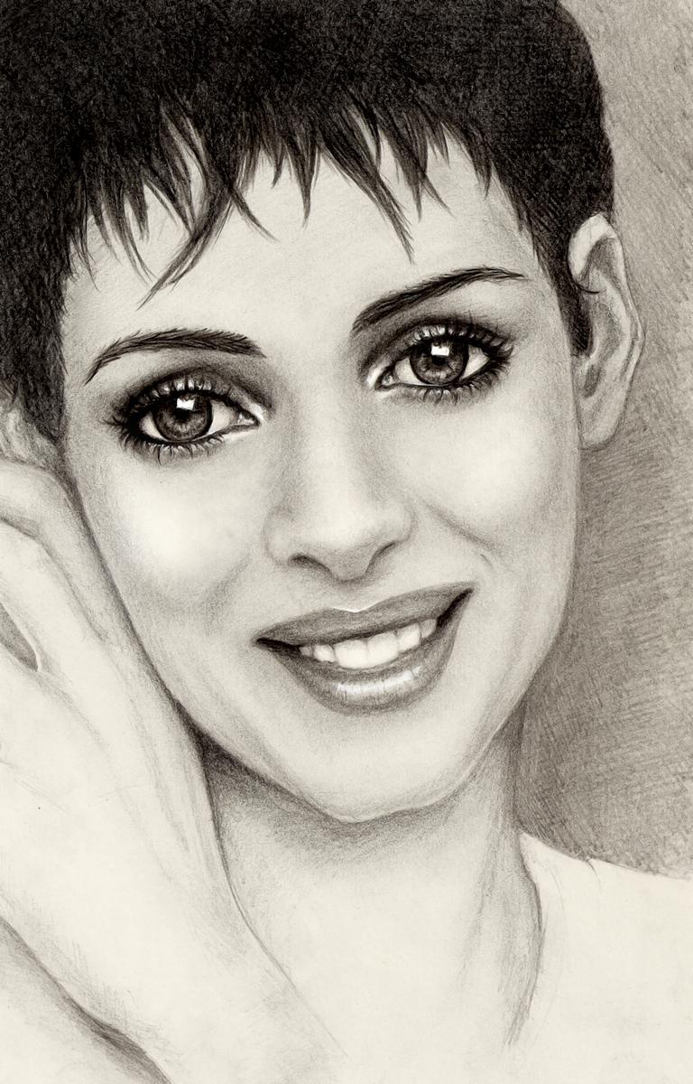 Big Eyed Winona Ryder Fan Art 6622050 Fanpop