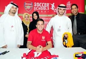 Cesc at Arsenal's football academy in Dubai