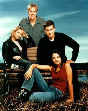 The 90s wallpaper probably containing a park bench called Dawson's Creek