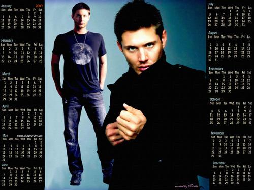 Dean Winchester calendar 2009