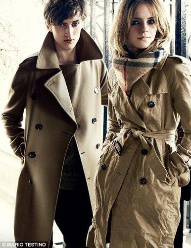 Emma Watson for burberry F/W
