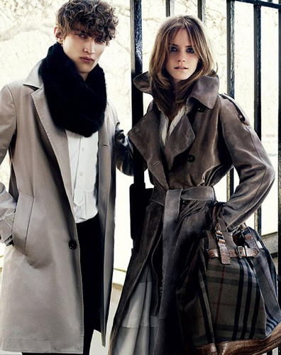 Emma modelling for Burberry