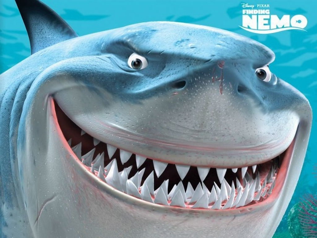 Finding nemo finding nemo bruce the shark wallpaper