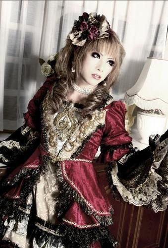 Versailles wallpaper probably containing a fur coat entitled Hizaki