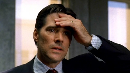 SSA Aaron Hotchner achtergrond containing a business suit, a suit, and a krijtstreep, pinstripe entitled Hotch