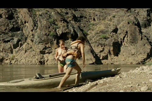 Into the Wild achtergrond possibly with a dugout canoe, a raft, and a kayak, kajak entitled Into the Wild
