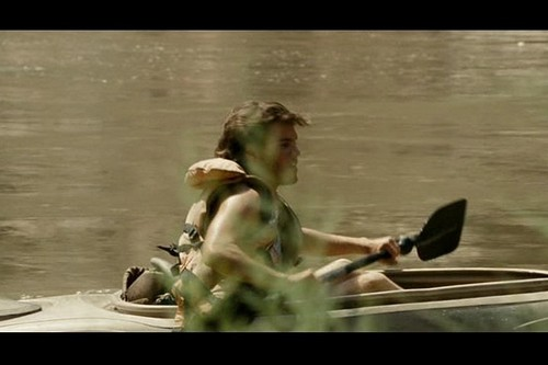 Into the Wild wallpaper with a canoe, a shell, and a raft entitled Into the Wild