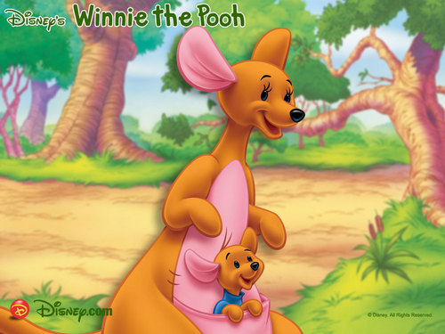 Winnie Pooh fondo de pantalla entitled Kanga and Roo fondo de pantalla