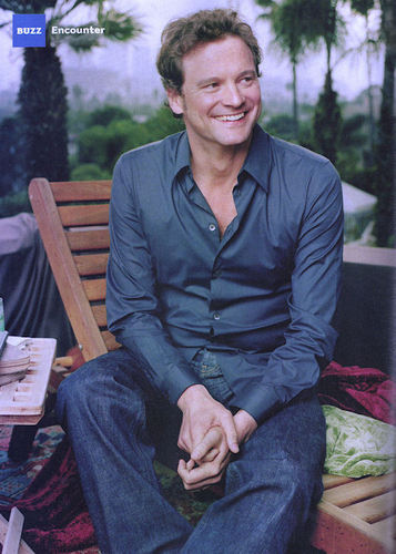 colin firth wallpaper containing a park bench titled LA Magazine June 2008