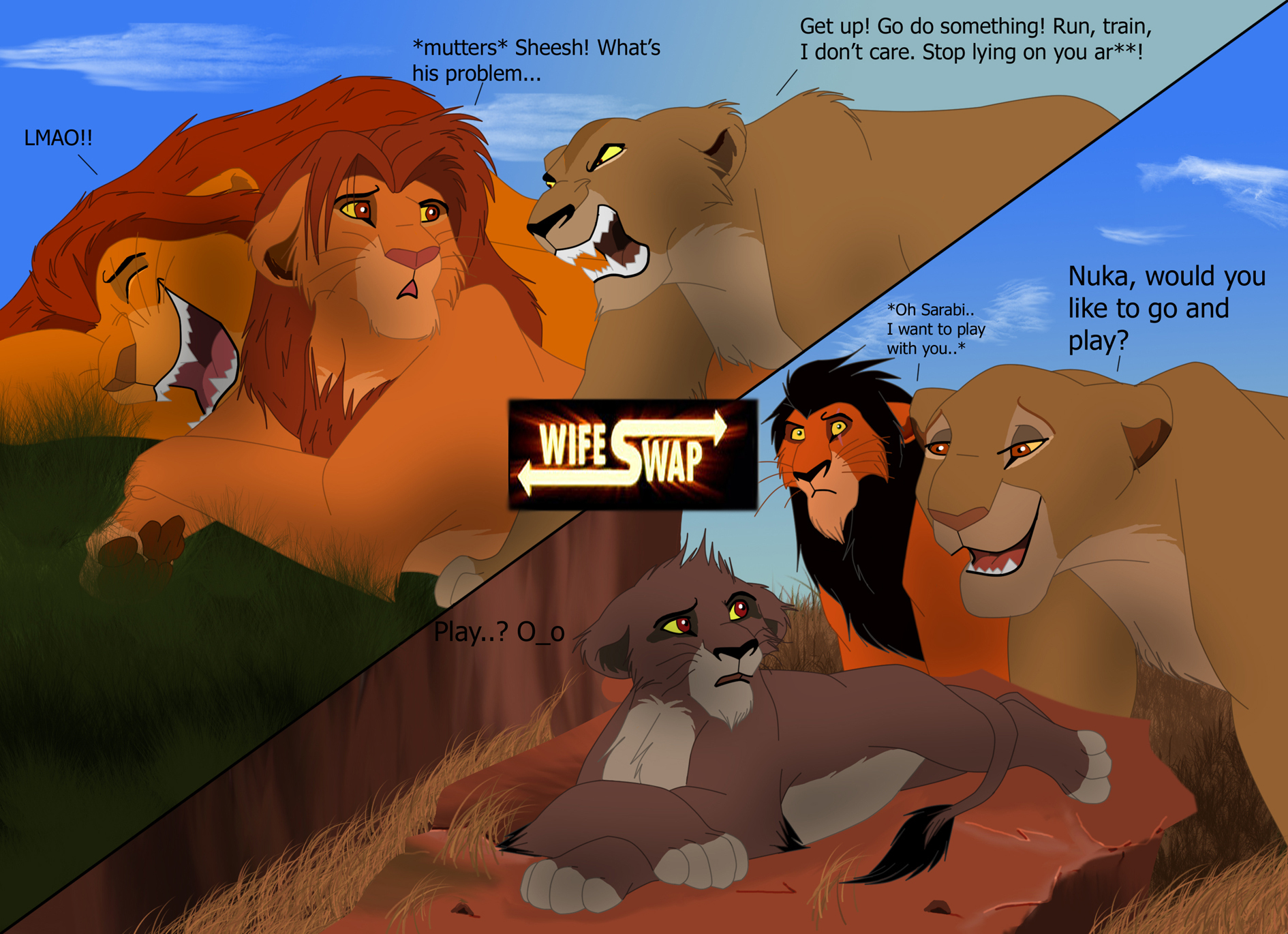 Lion King Wife Swap - The Lion - 1363.0KB