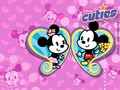 Mickey and Minnie Cuties Wallpaper