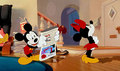 Mickey and Minnie Having a Disagreement