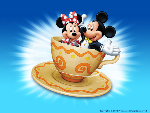Mickey and Minnie wallpaper containing a turkish coffee and a coffee break called Mickey and Minnie Wallpaper
