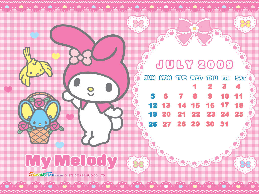 My Melody July 2009 Wallpaper - My Melody Wallpaper (6604731) - Fanpop