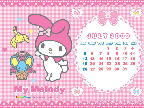 My Melody July 2009 fond d'écran