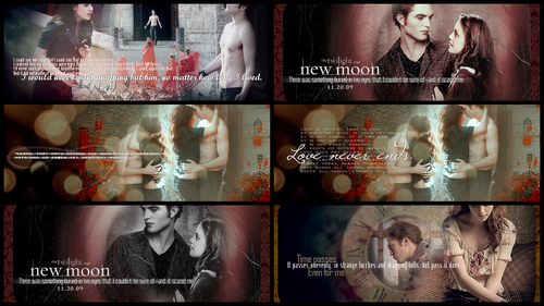Twilight Saga Фильмы Обои probably with a sign titled New Moon <3