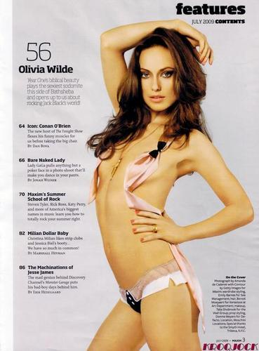 Olivia in Maxim Magazine's 'Garden Of Eden' Hot 100 Photoshoot