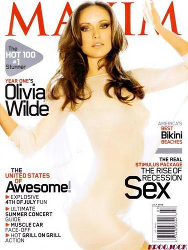 Olivia Wilde Hintergrund containing a portrait titled Olivia on the Cover of Maxim Magazine (July 2009)
