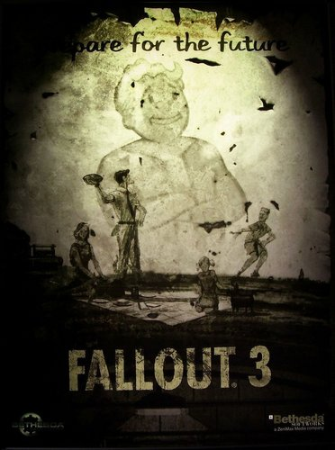 Fallout 3 壁纸 possibly containing a sign and 日本动漫 called Prepare for the Future