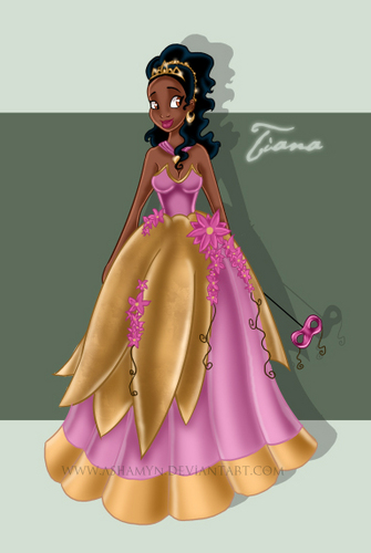 The Princess and the Frog wallpaper possibly with a polonaise and a dinner dress titled Princess Tiana
